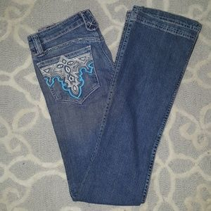 Antik Denim Embroided Jeans